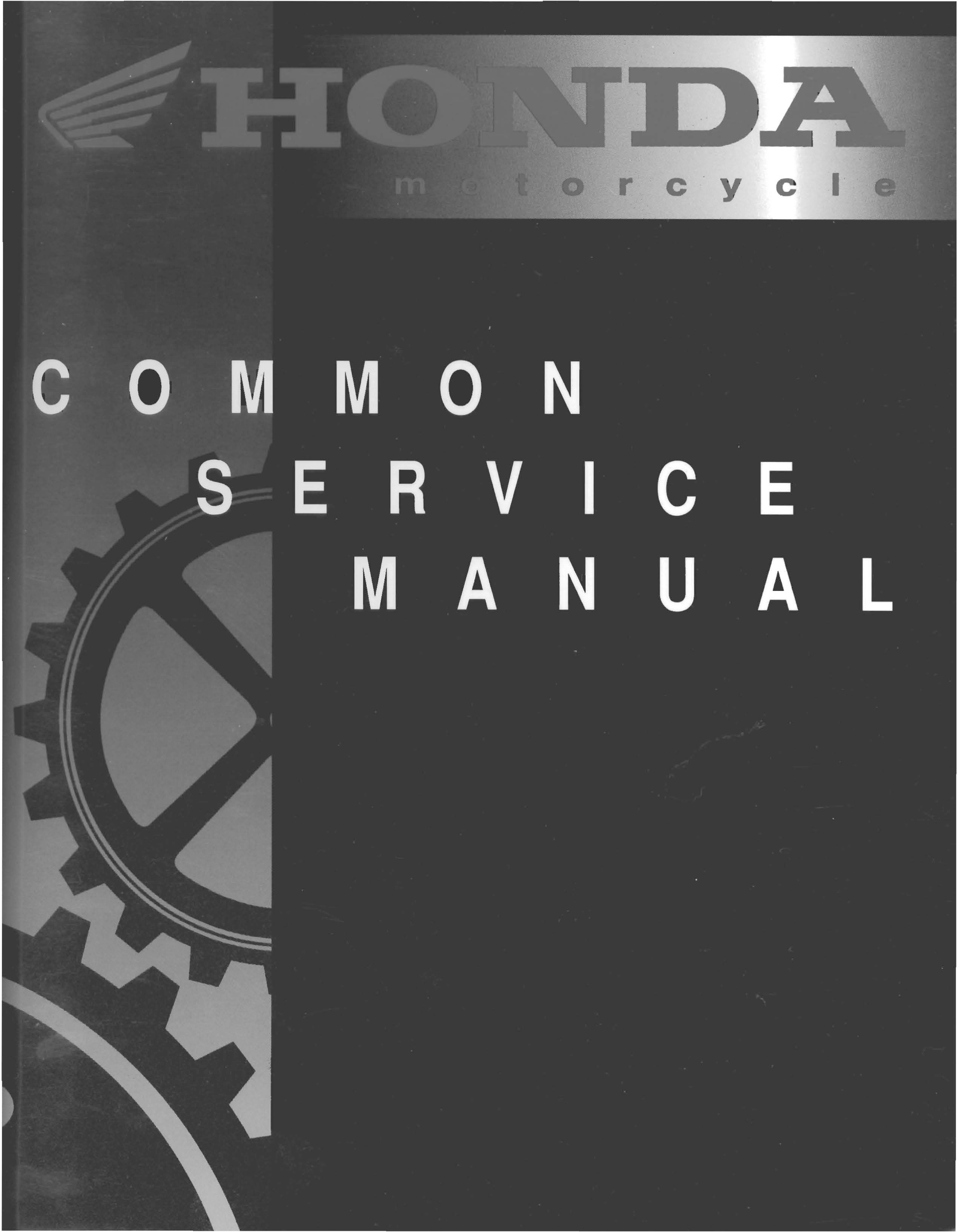 Honda Common Service Manual (1995)