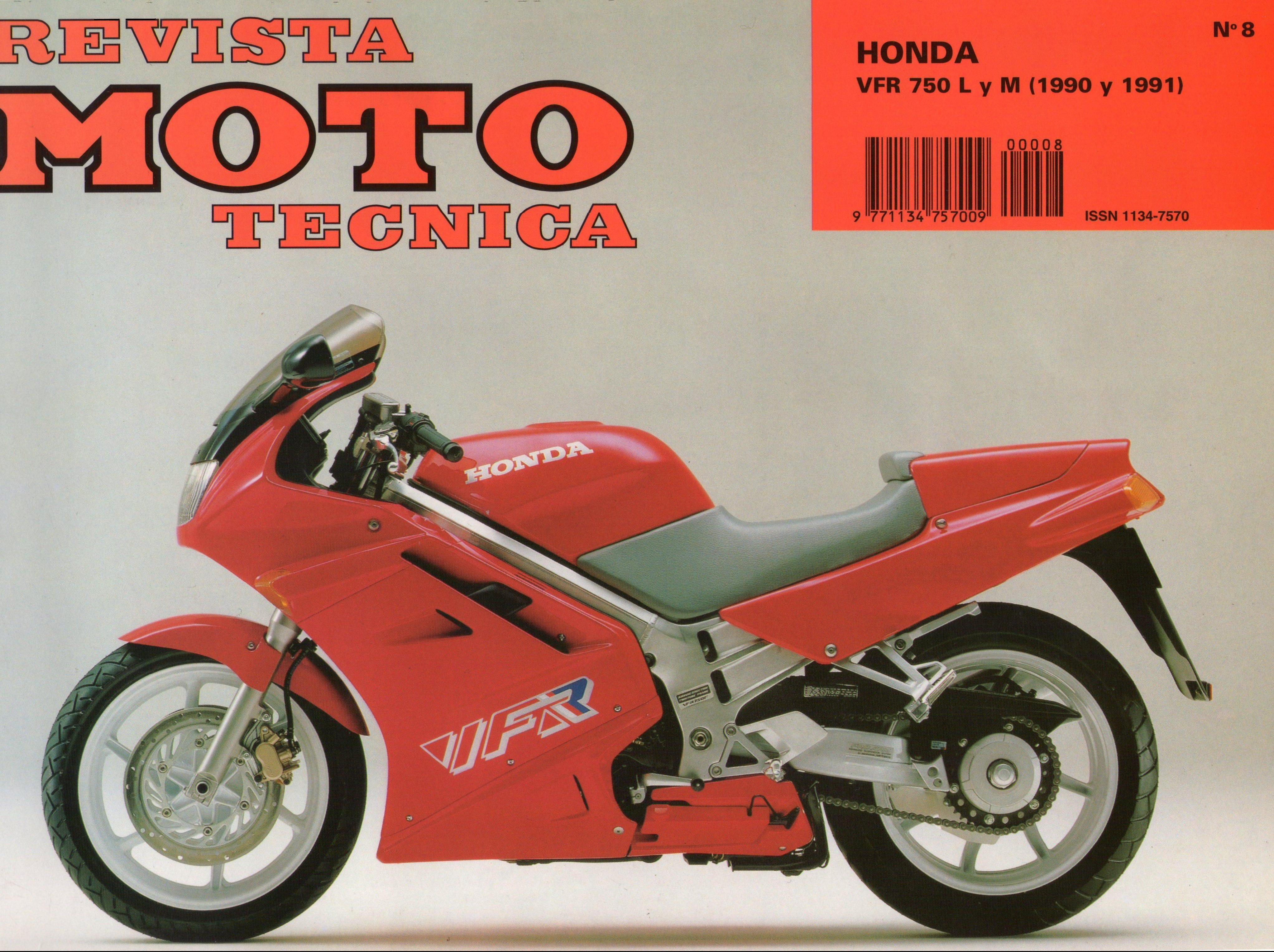 Revista Moto Technica for Honda VFR750L (1990) (Spanish)