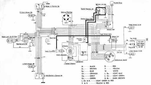 Honda C102 Wiring Schematic
