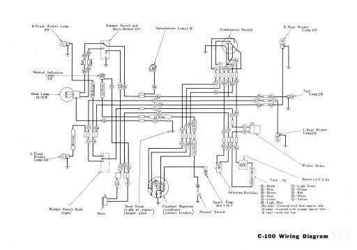 Honda C100 Wiring Schematic