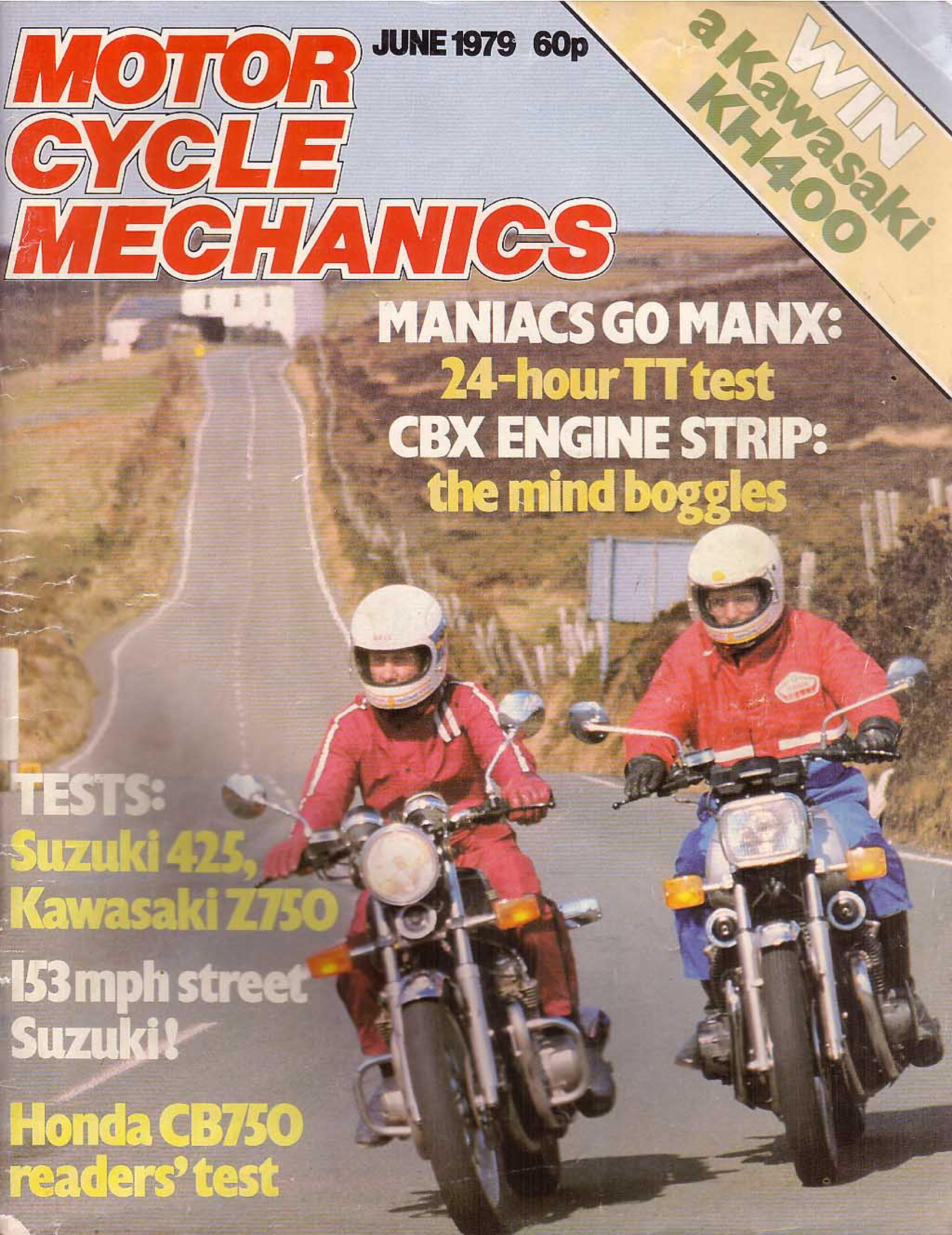 Motorcycle Mechanics about Honda CB650 (June 1979)