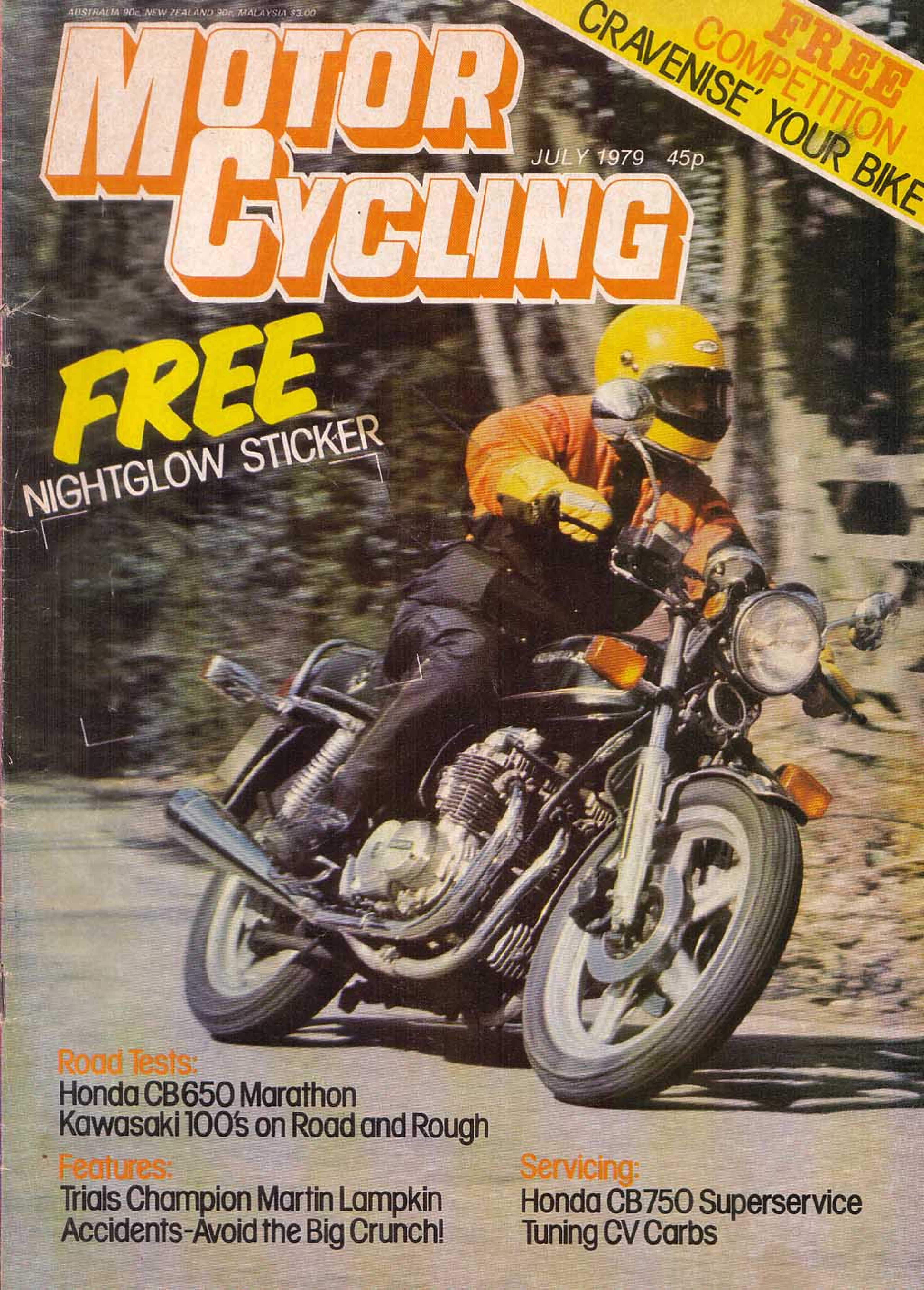 Motorcycling Magazine about Honda CB650 (July 1979)