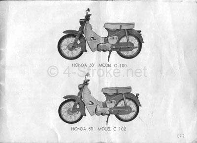Honda C100 (1967) Owner's Manual