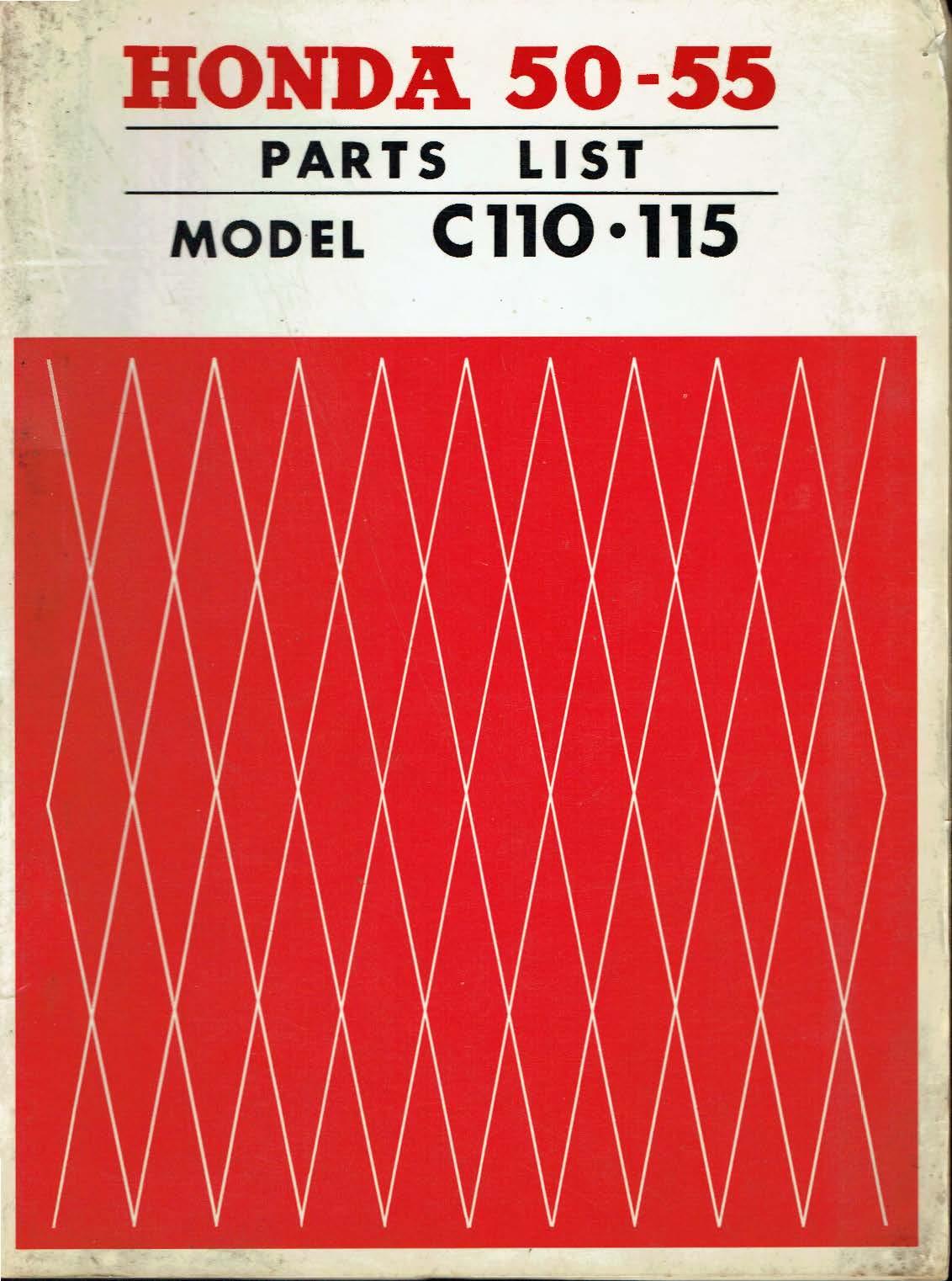 Parts list for Honda C115 (1963)