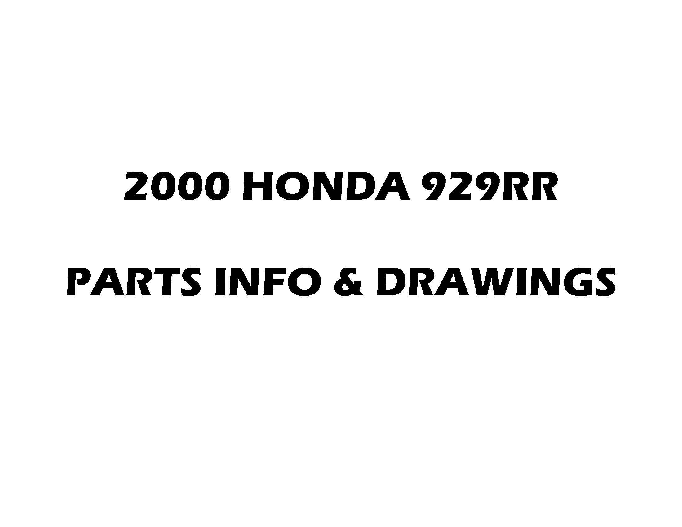 Parts list CBR929RR (2000)