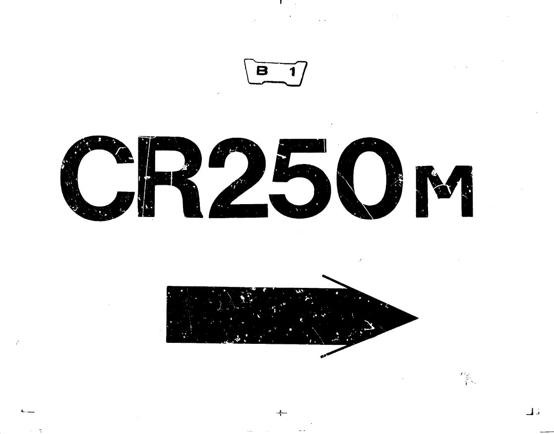 Parts list for Honda CR250M (1973)