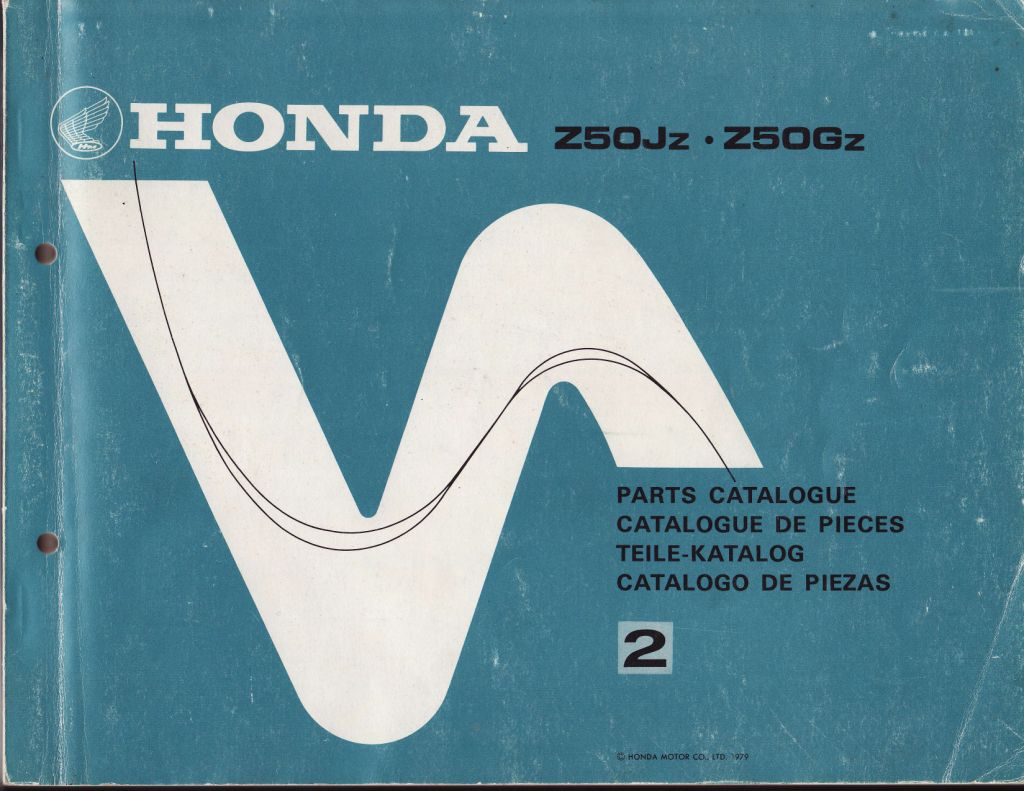 Parts List for Honda Z50J (1979)