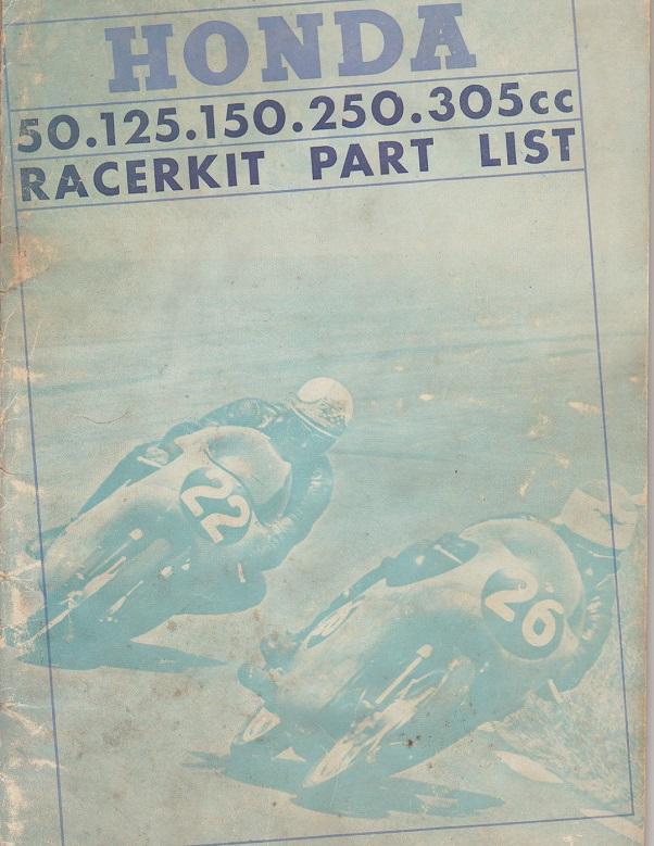 Honda Racerkit Part List