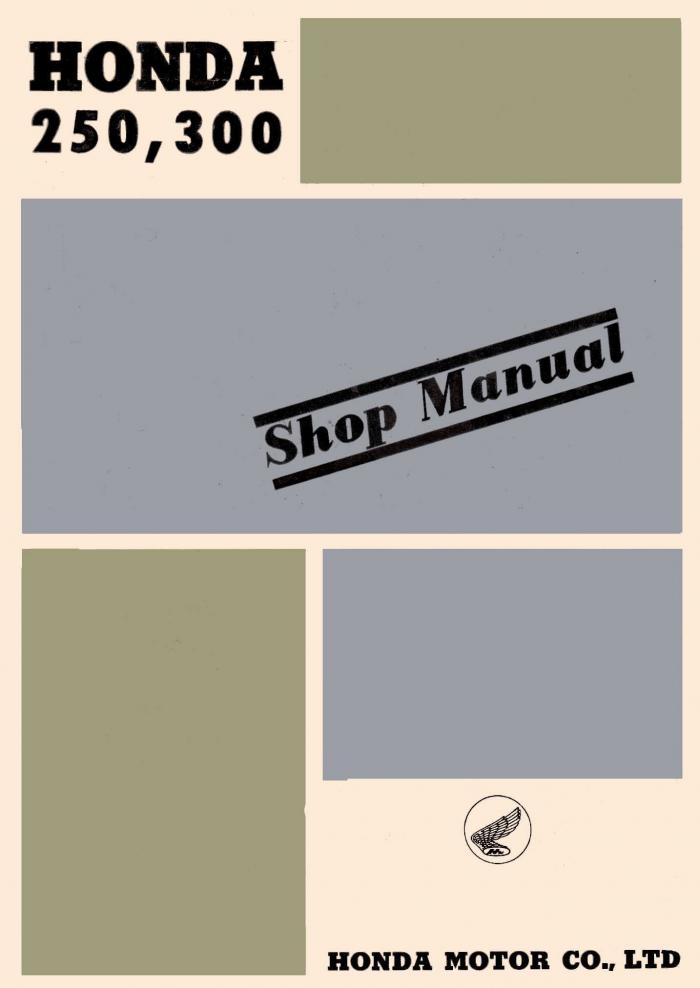 Workshop manual for Honda C72 250 (1960)