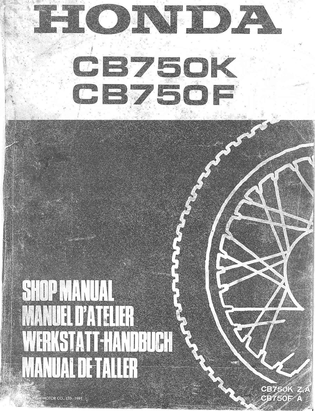 Workshop Manual for Honda CB750F (1981) (German)