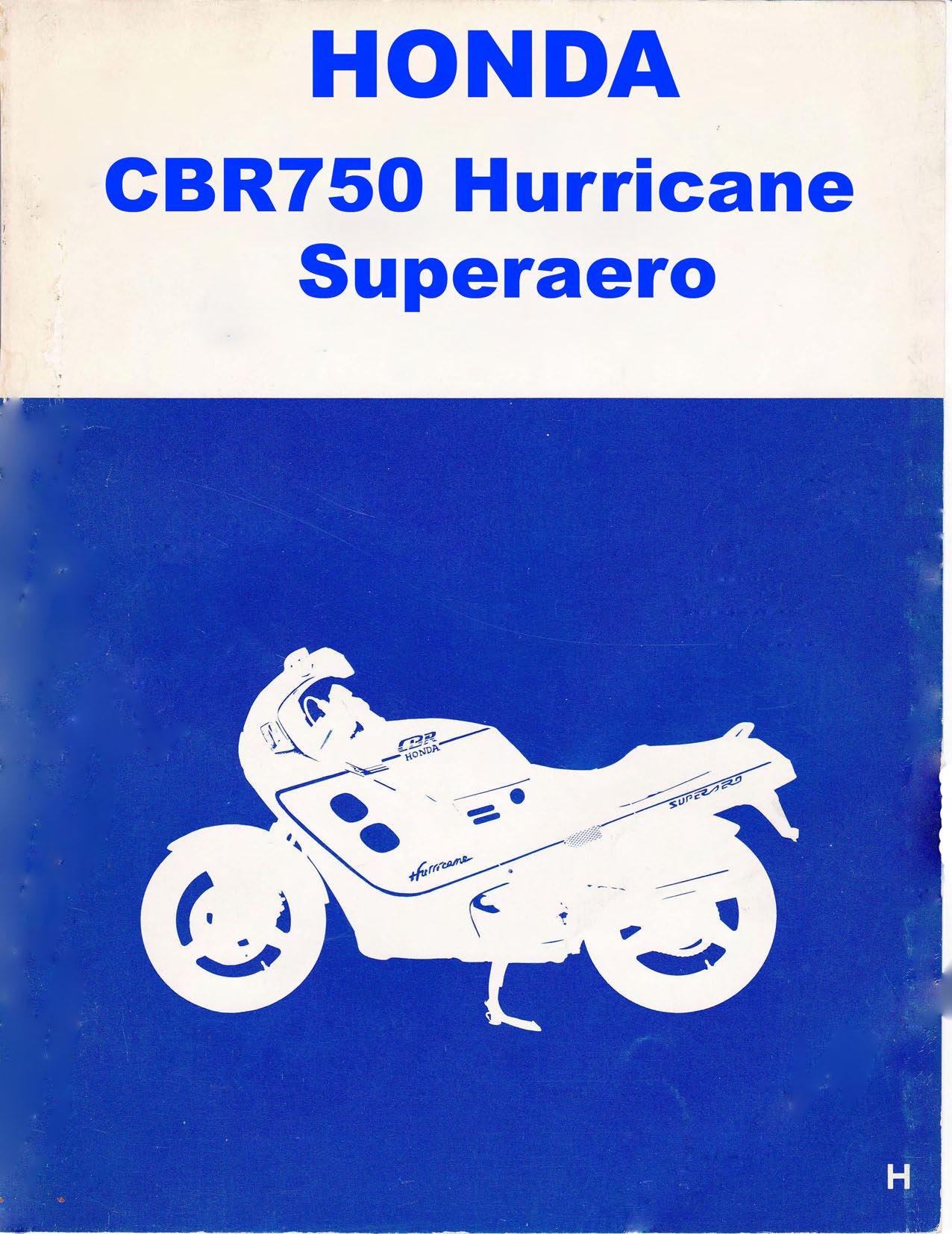 Workshopmanual for Honda CBR750 (1987) (Japanese)