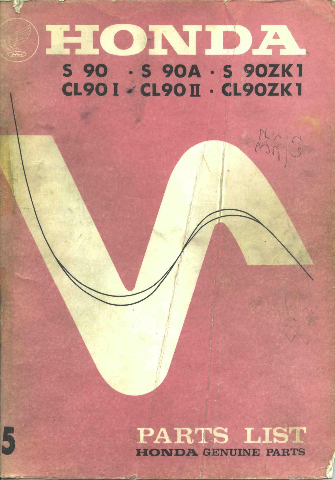 Workshopmanual for Honda CL90ZK1 (1972)
