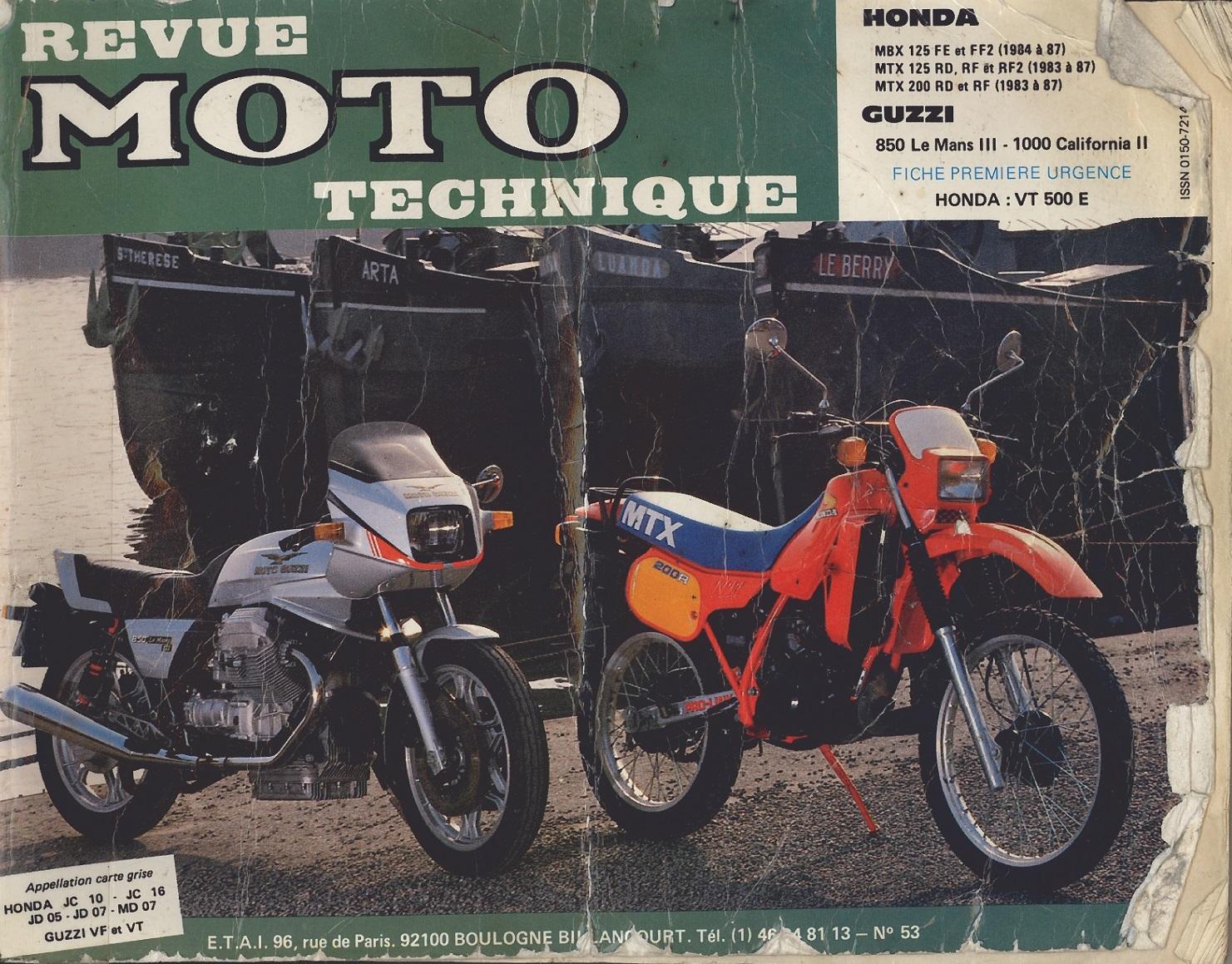 Workshop Manual for Honda MBX125FE (1984-1987)
