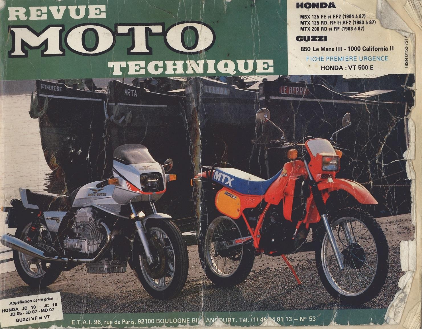 Workshop Manual for Honda MTX125RD (1983-1987)