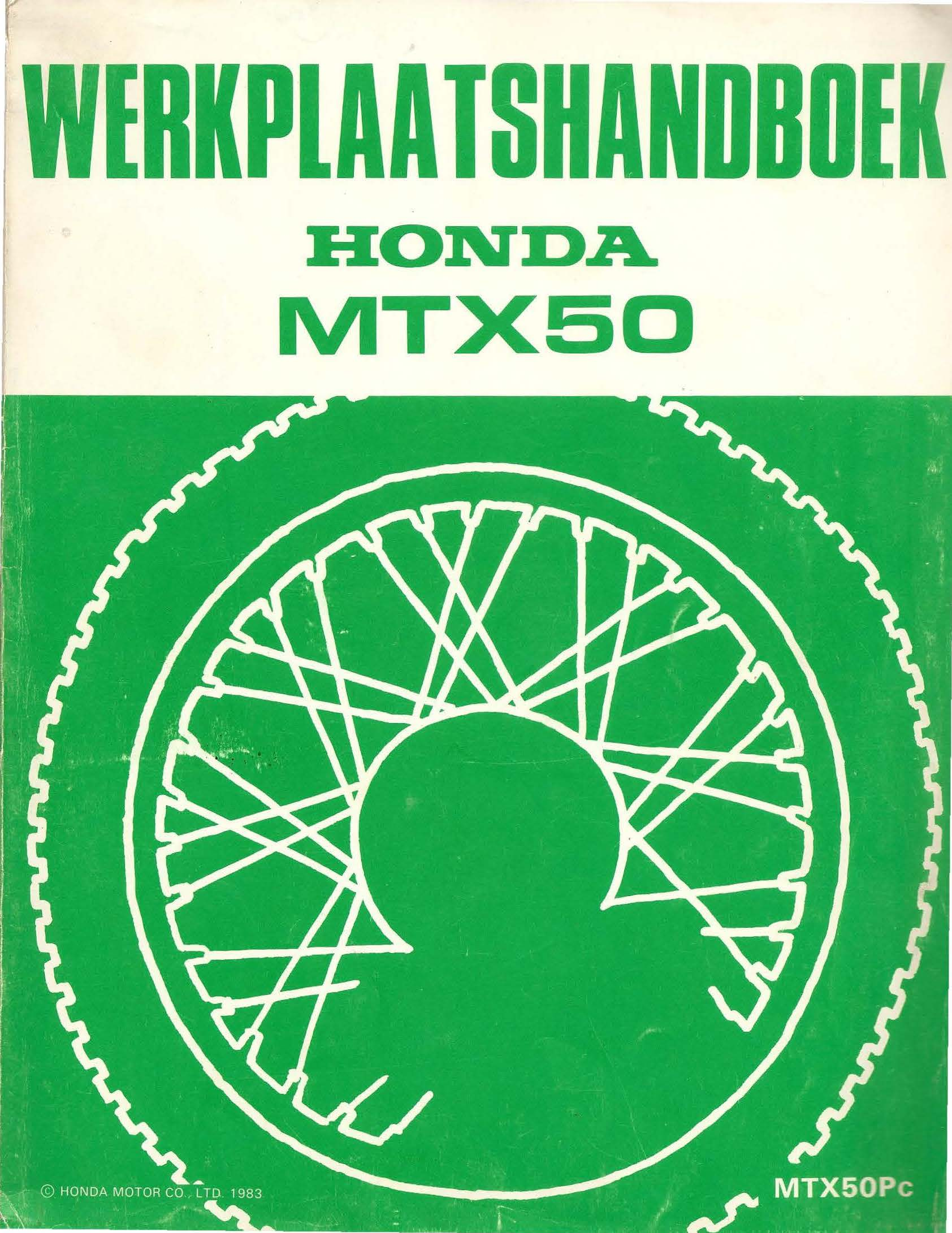 Workshop manual for Honda MTX50P (1983) (Dutch)