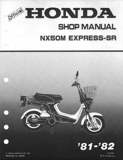 Workshop Manual for Honda NX50M Express (1981-1982)