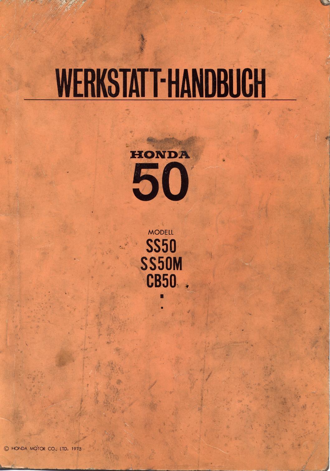 Workshop Manual for Honda SS50 (1973)