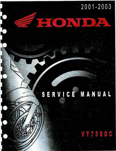 Workshop Manual for Honda VT750DC (2001-2002)