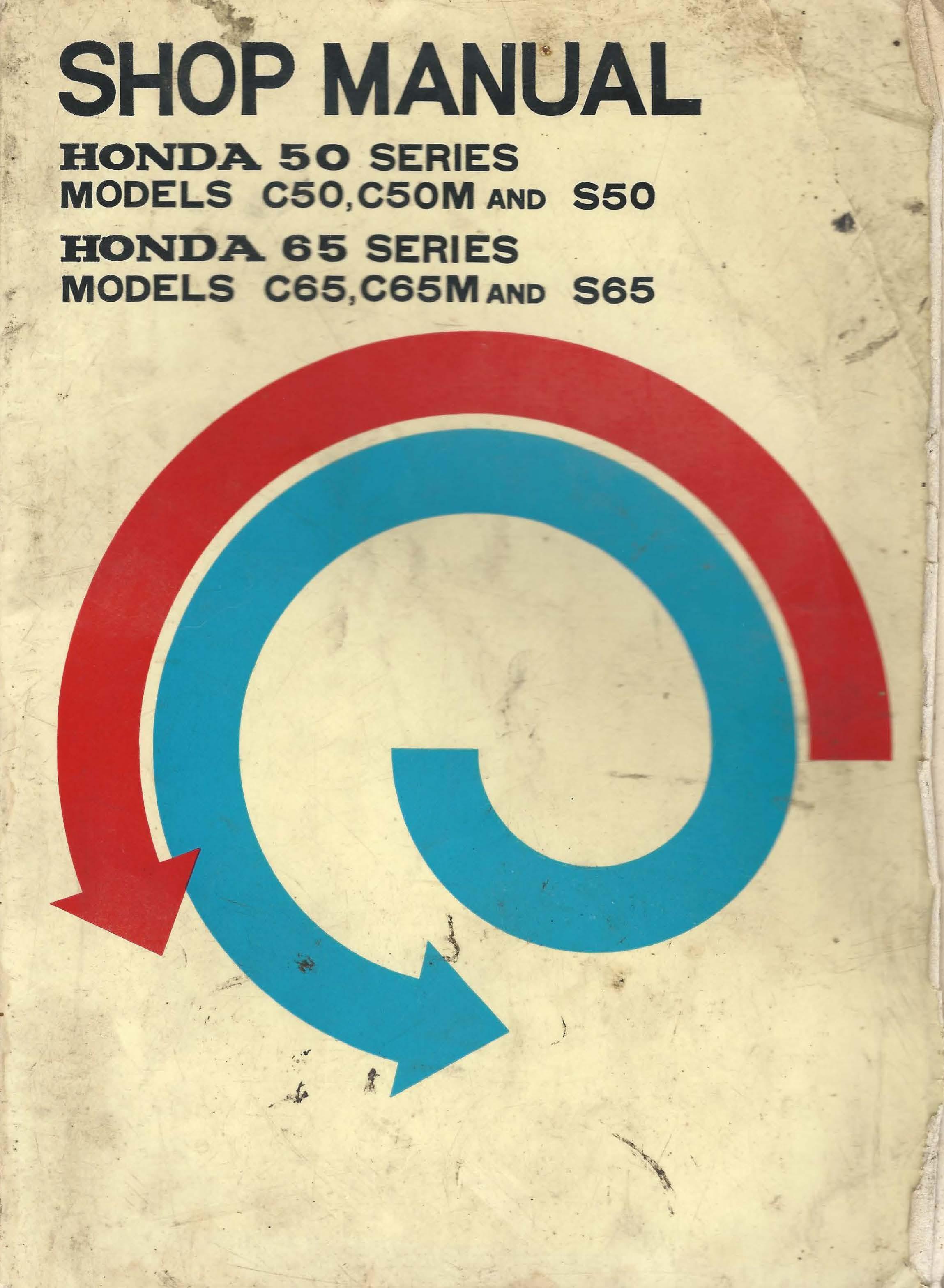 Workshop manual for Honda C65M (1966)