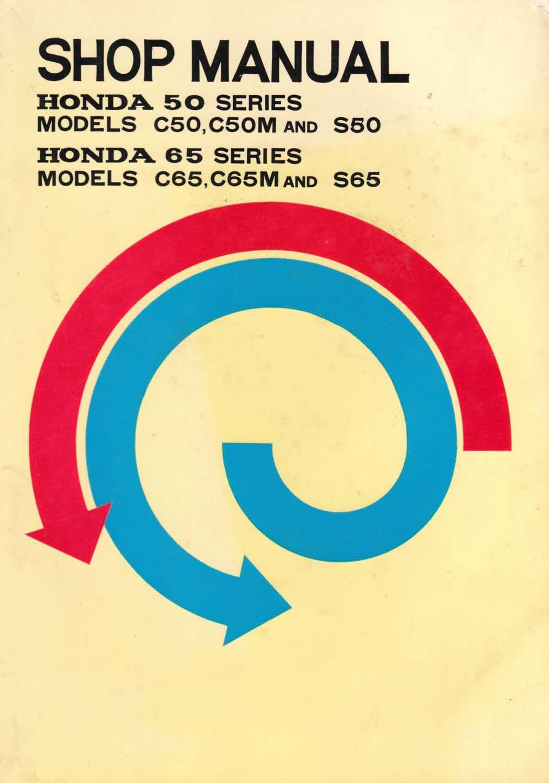Workshop manual for Honda C65M (1970)