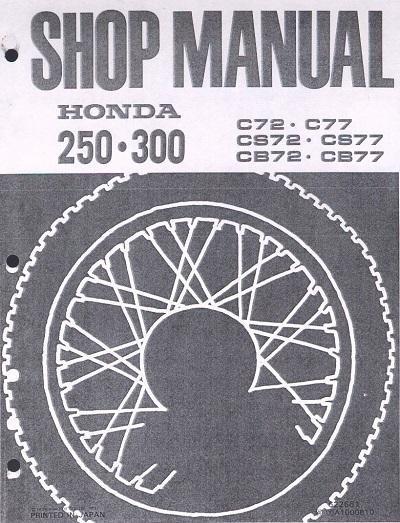 Workshop manual for Honda C72 (1960-1971)