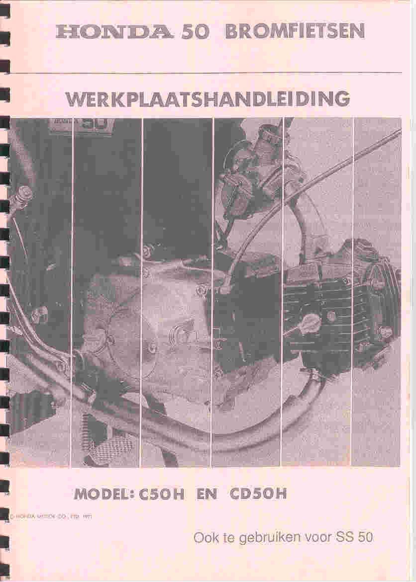 Workshopmanual for Honda CD50H (1971) - Dutch