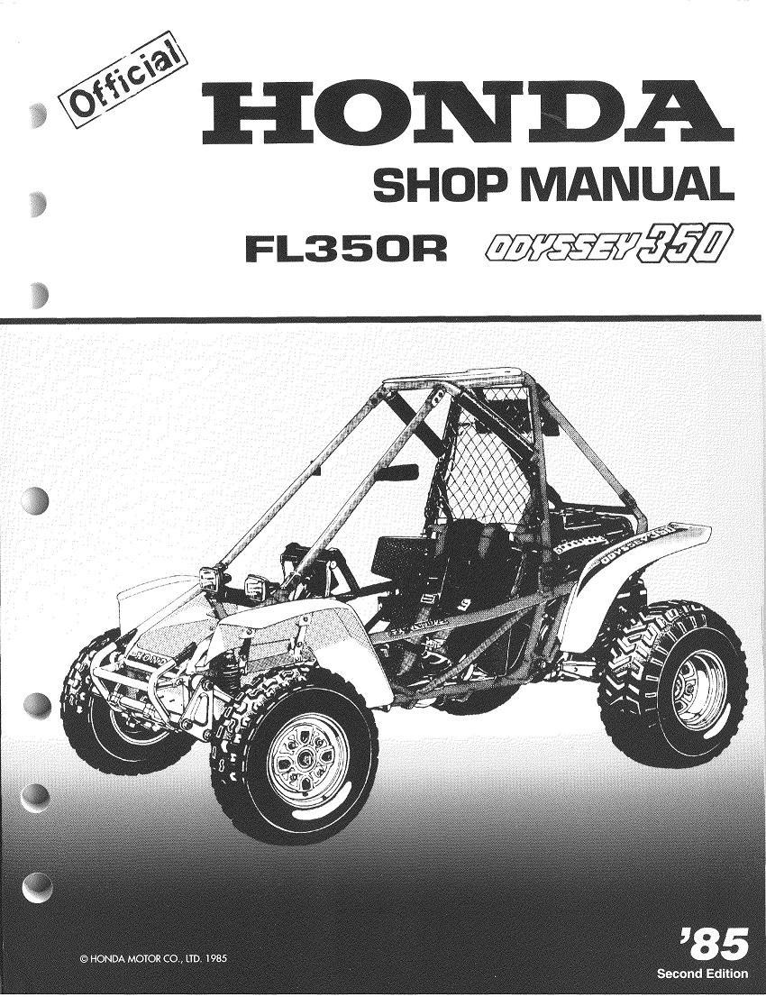 Workshopmanual for Honda FL350R Odyssey (1985)