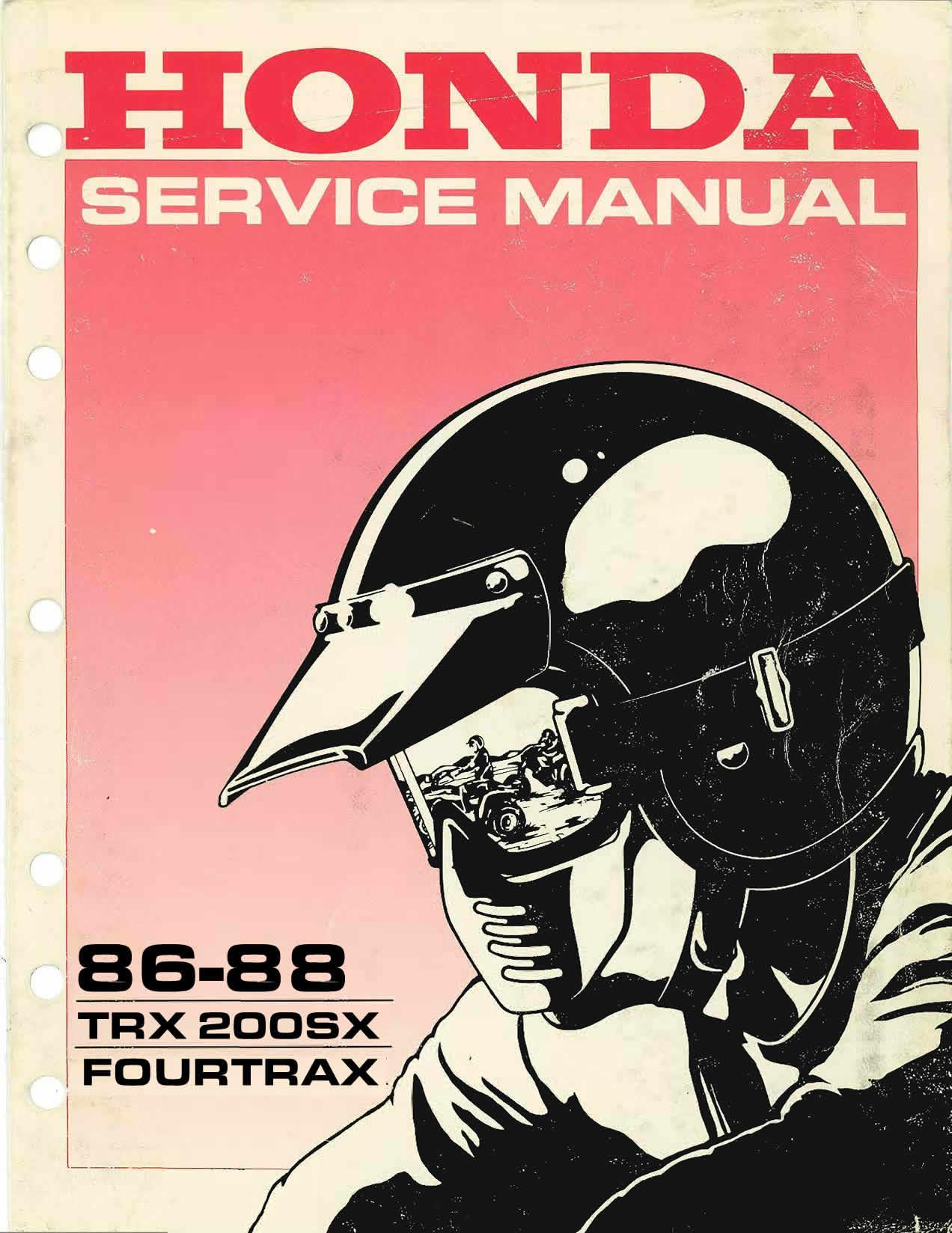 Workshopmanual for Honda TRX200SX (1986-1988)