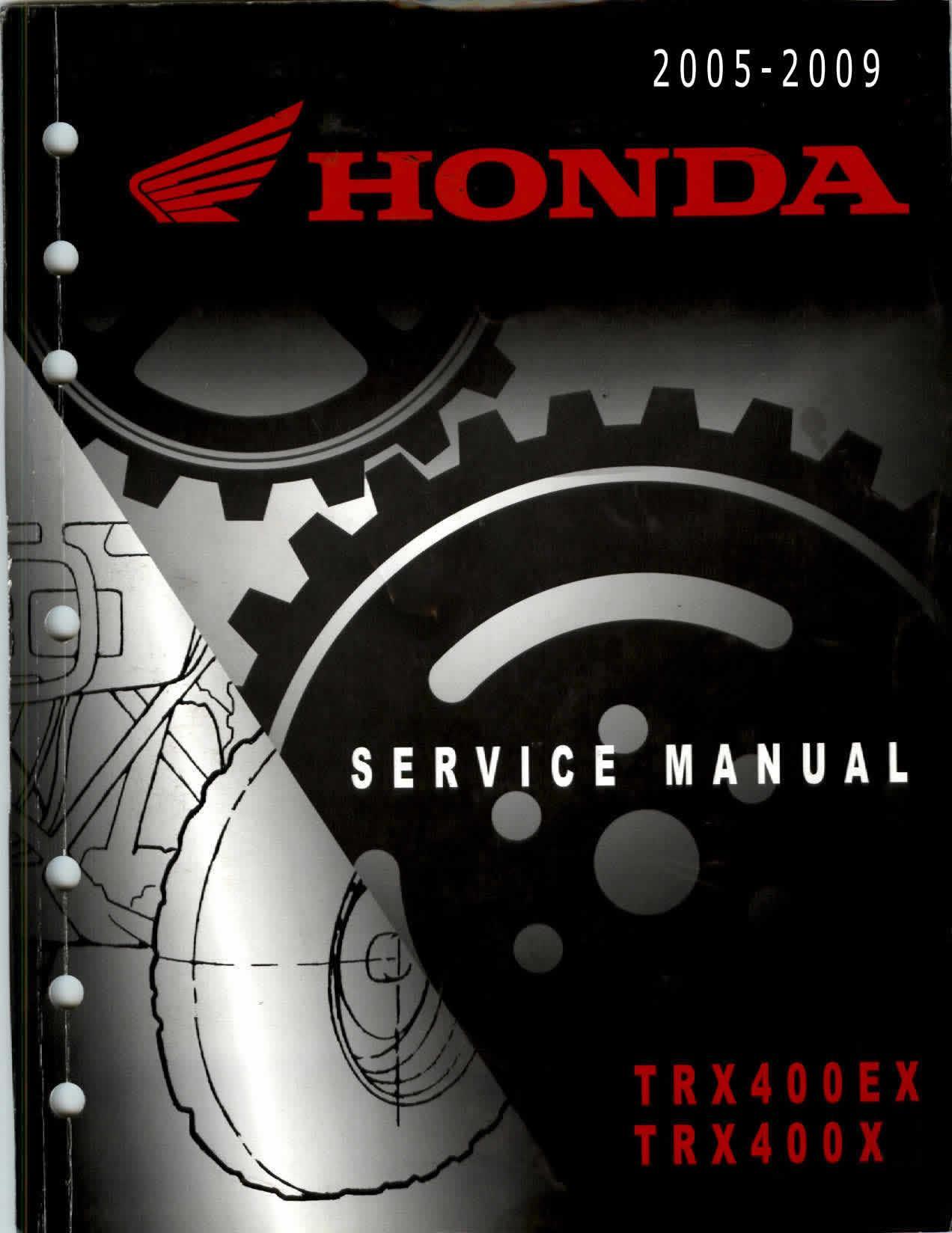 Workshopmanual for Honda TRX400EX (2005-2009)